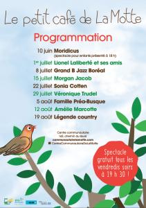 Le petit café de La Motte_programmation